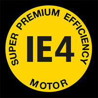 Super premium efficiency drive motor IE4 logo